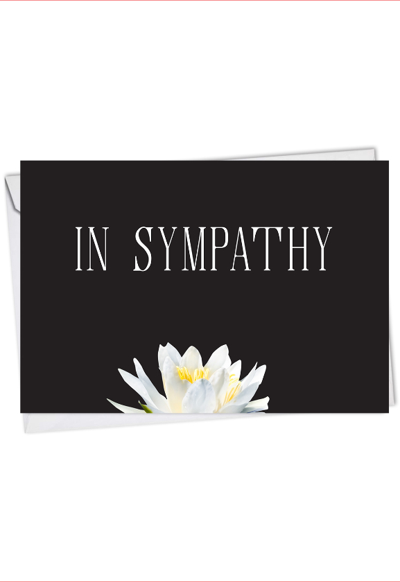Floral Support - Condolences: Beautiful Sympathy Greeting Card