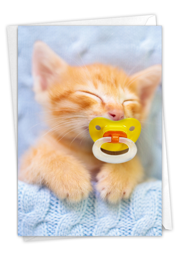 Cat Pacifiers - Kitty: Stylish Birthday Printed Card