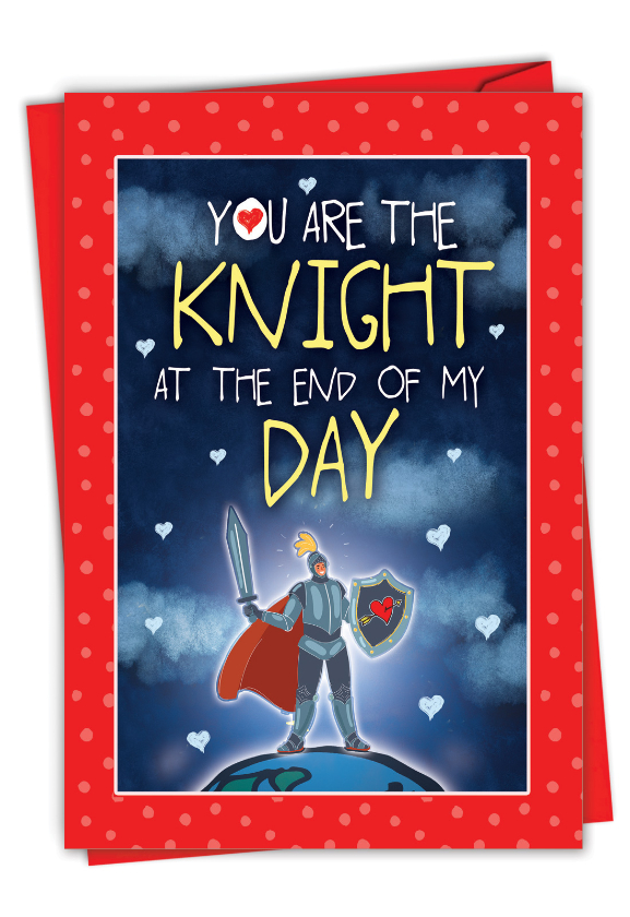 Knight and Day: Funny Valentine's Day Paper Greeting Card