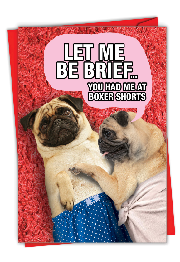 Boxer Shorts: Funny Valentine's Day Card