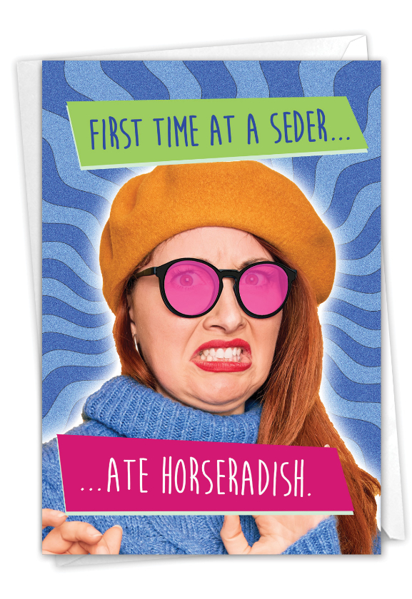 First Time Seder: Hilarious Passover Greeting Card
