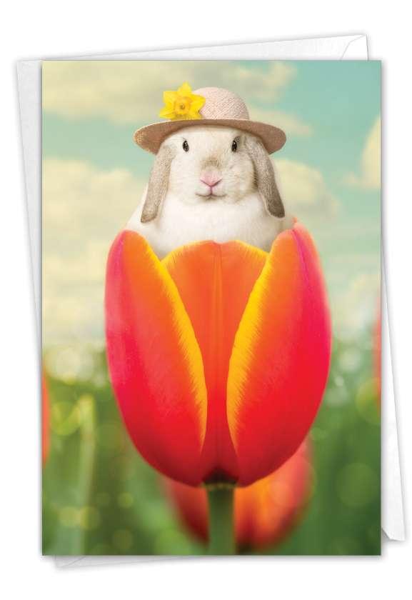 Bunny Tulip: Hilarious Easter Printed Card