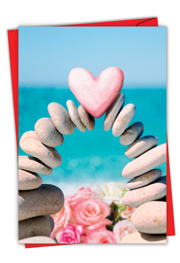 Heart Rock: Humorous Valentine's Day Paper Greeting Card