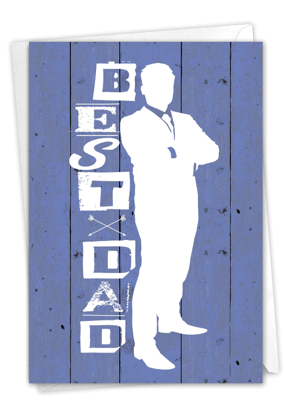 Blue Dad: Creative Father's Day Printed Card