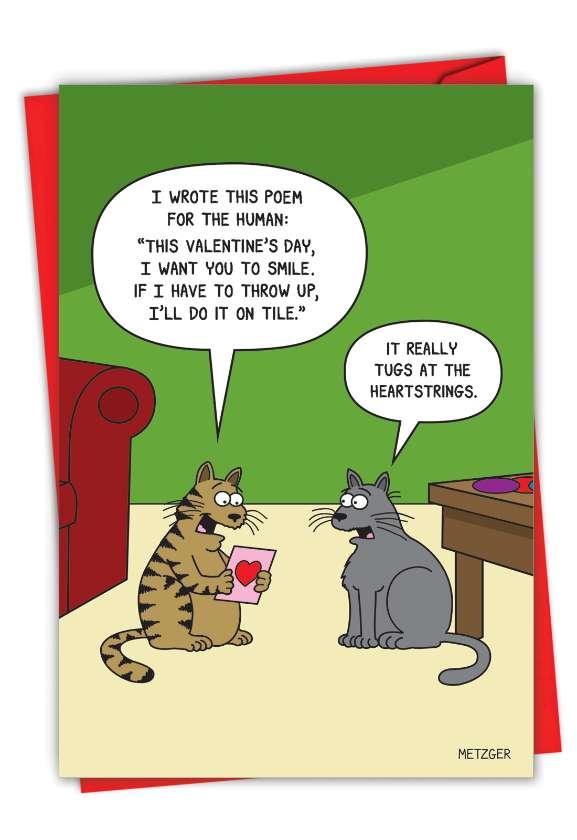 Human Poem: Hilarious Valentine's Day Printed Greeting Card