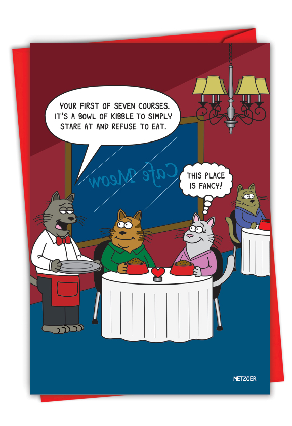 Seven Courses: Humorous Valentine's Day Card