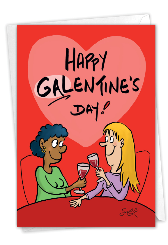 Gallons of Wine: Funny Galentine's Day Paper Card