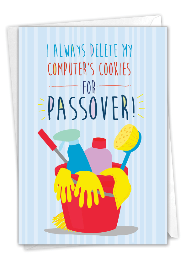 Computer Cookies: Hilarious Passover Printed Greeting Card