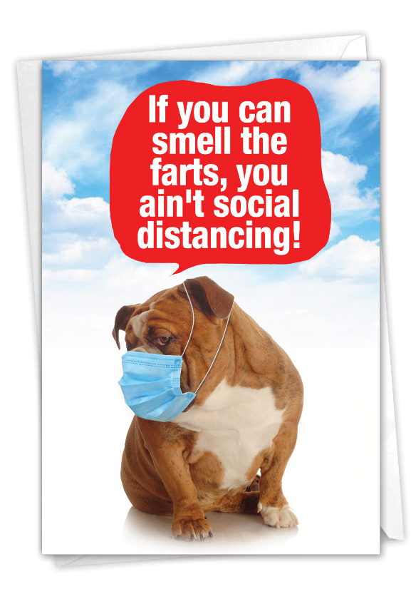 Ain't Social Distancing: Funny Friendship Paper Card