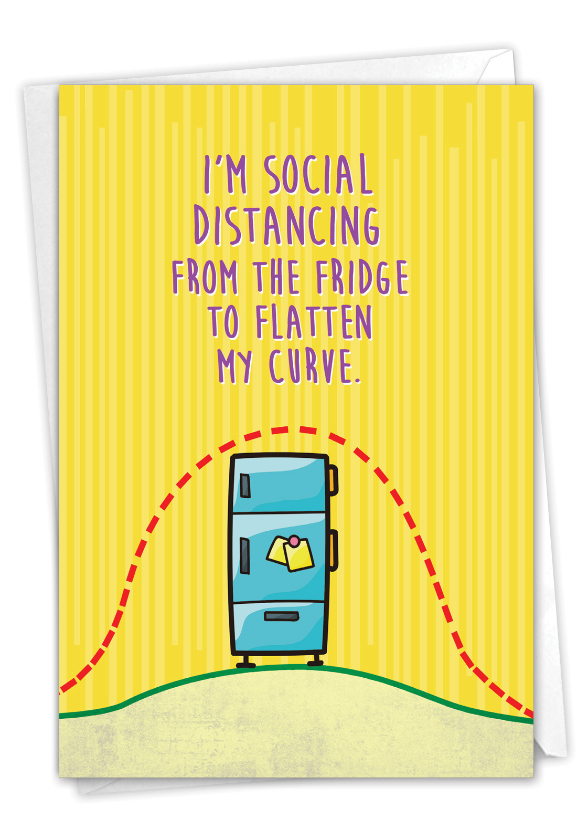 Six Feet From Fridge: Hilarious Friendship Printed Card