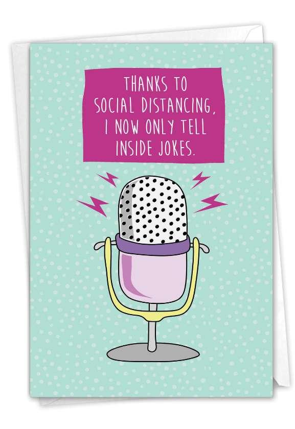 Inside Jokes: Humorous Friendship Paper Greeting Card
