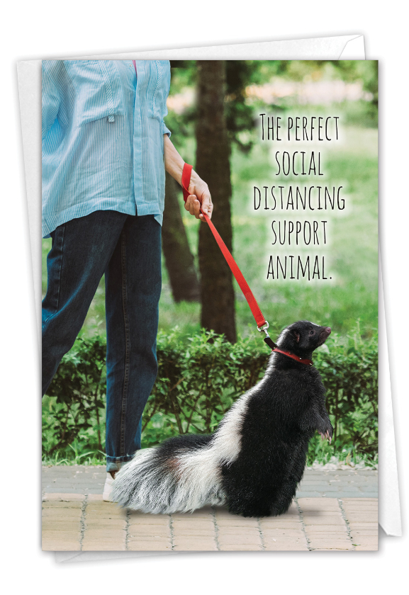 Skunk Support: Funny Friendship Card