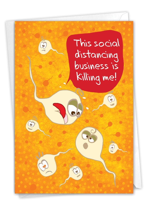 Killing Me: Humorous Friendship Paper Card