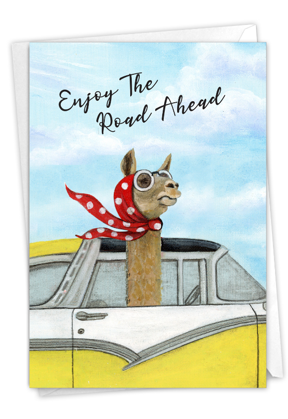 Driving Divas: Artful Retirement Printed Card