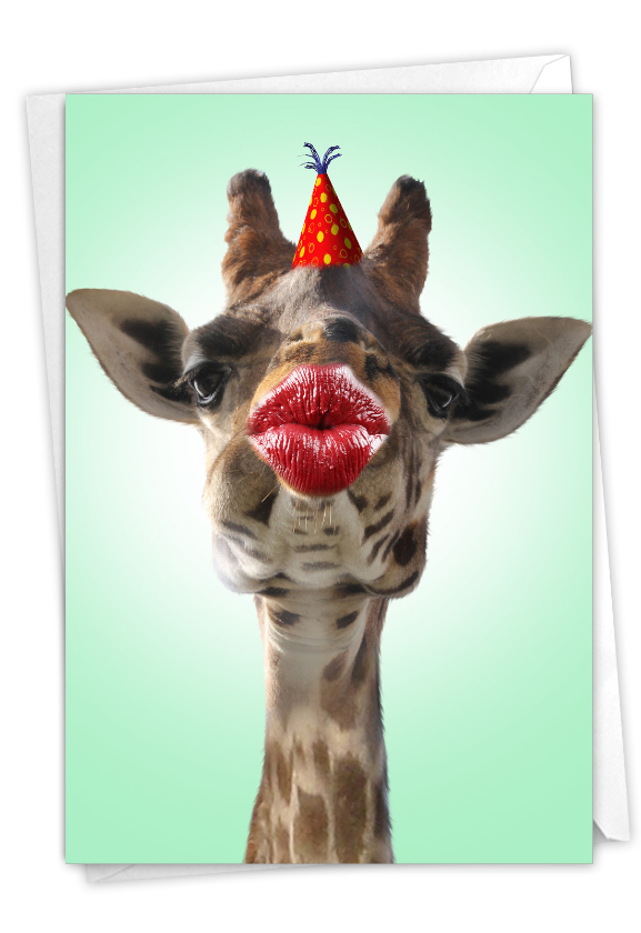 Wild Kisses - Giraffe: Beautiful Birthday Printed Card