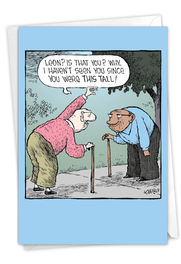 This Tall: Hysterical Birthday Greeting Card