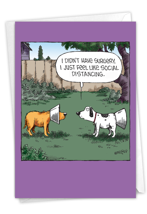 Funny Get Well Paper Card By Dave Coverly From NobleWorksCards.com - No Surgery