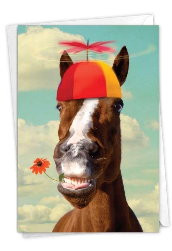 Horse Around: Hysterical Birthday Greeting Card