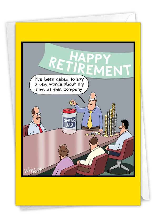 Swear Jar: Funny Retirement Card