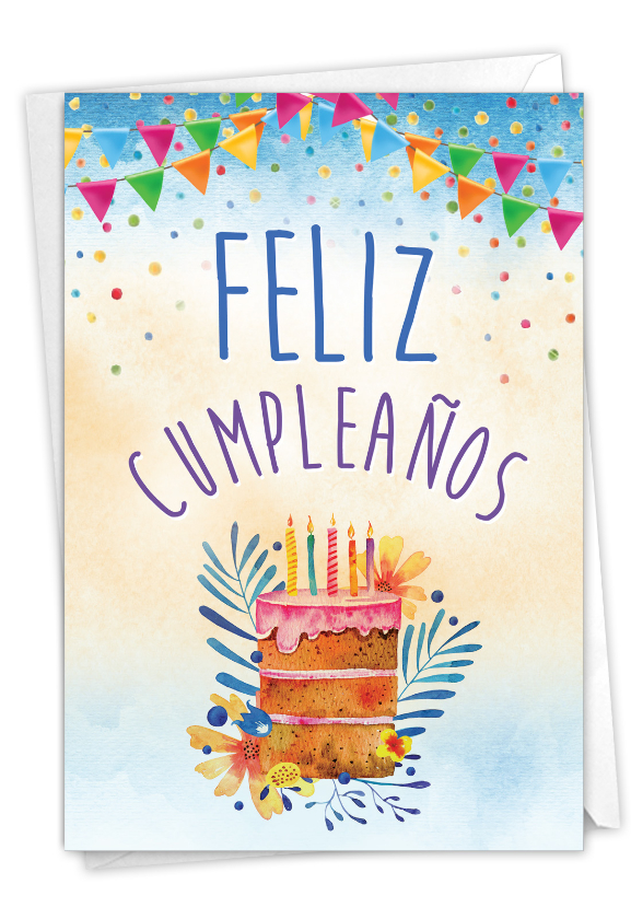 Maravilloso Día: Creative Birthday Paper Greeting Card