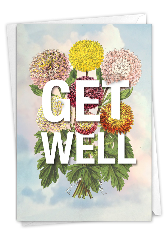 Timely Wellness: Stylish Get Well Blank Card