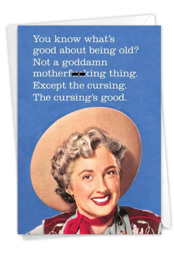 Cursing Is Good: Humorous Birthday Card