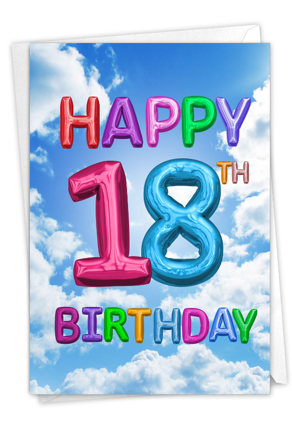 Inflated Messages - 18: Hilarious Milestone Birthday Printed Card