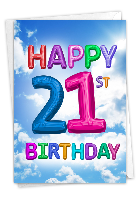 Inflated Messages - 21: Hysterical Milestone Birthday Printed Greeting Card