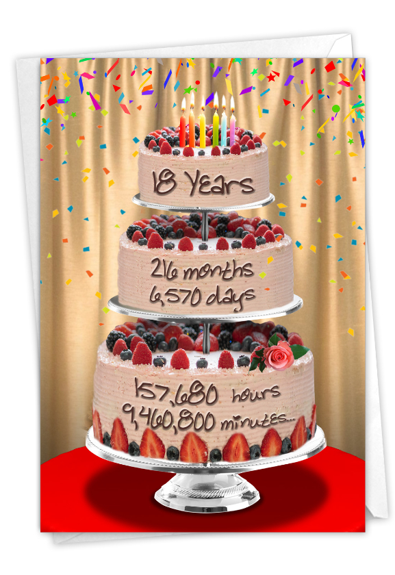 18 Year Time Count: Hysterical Milestone Birthday Greeting Card