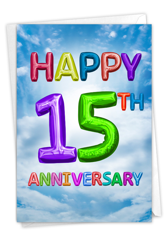 Inflated Messages - 15: Hysterical Milestone Anniversary Printed Card
