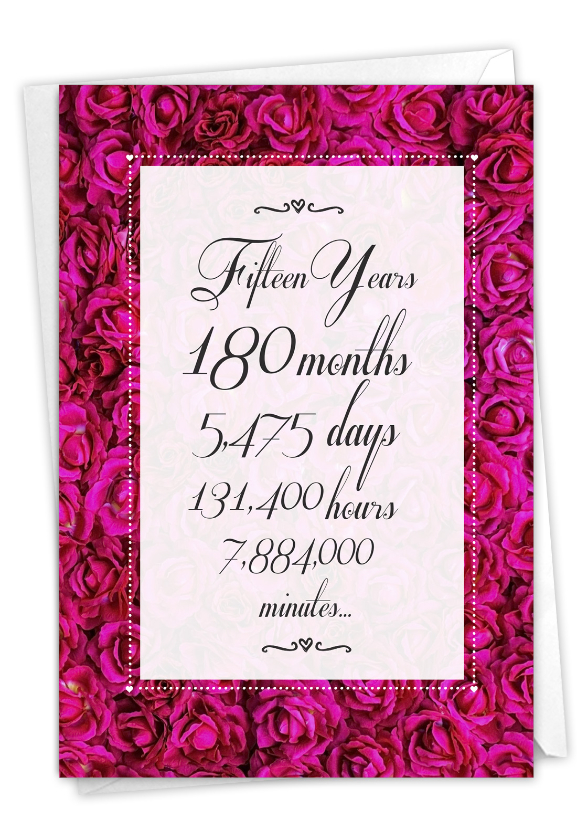 15 Year Time Count: Funny Milestone Anniversary Card