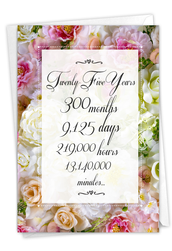 25 Year Time Count: Hilarious Milestone Anniversary Greeting Card