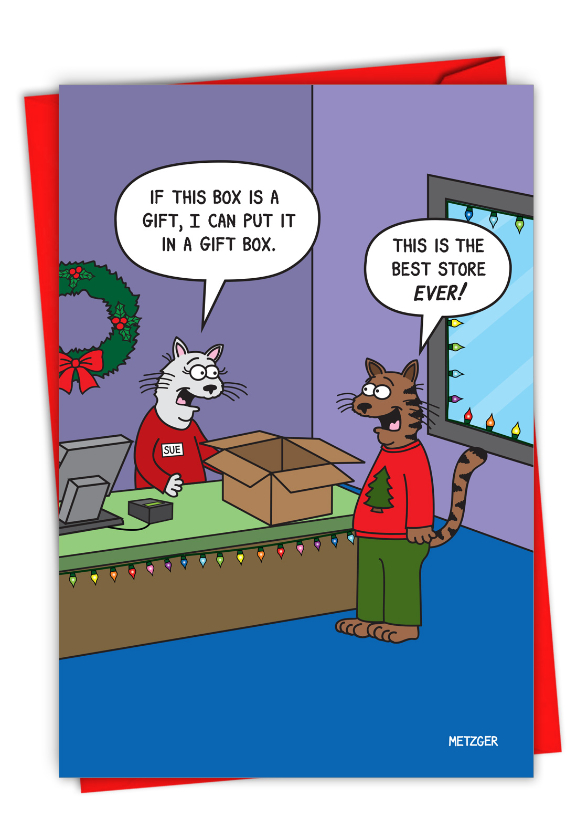 Hilarious Merry Christmas Printed Card By Scott Metzger From NobleWorksCards.com - Best Store Ever