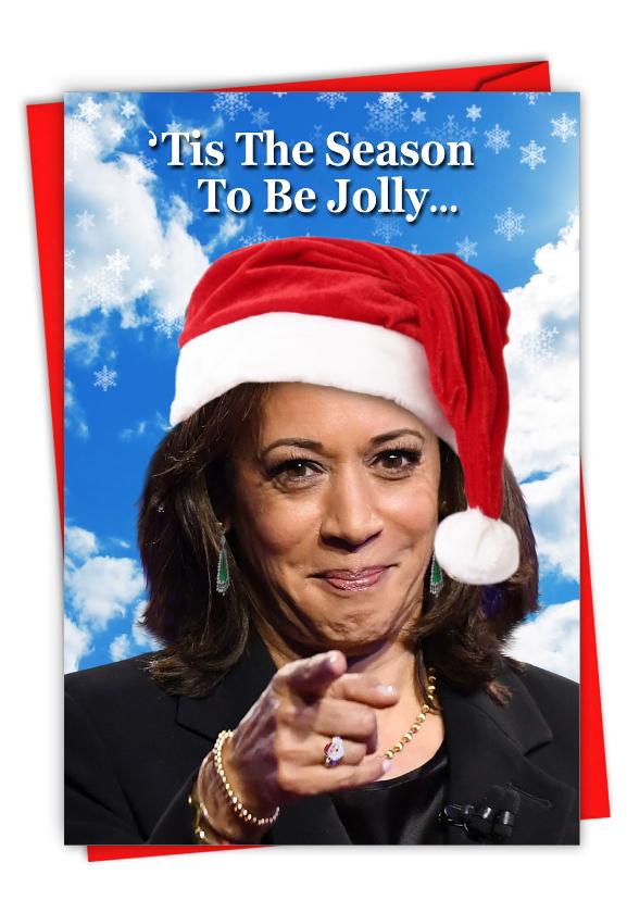 Santa V.P.: Hysterical Merry Christmas Printed Card