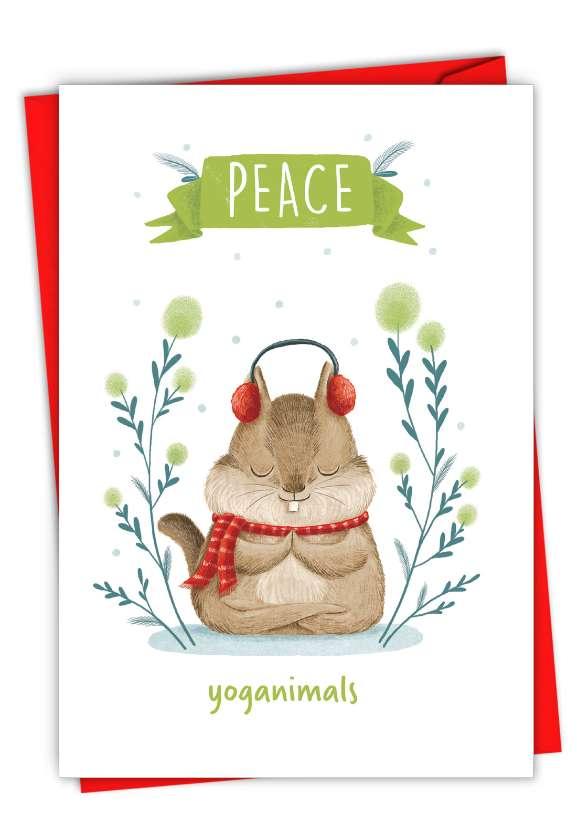 Holiday Yoganimals-Squirrel: Hilarious Merry Christmas Greeting Card