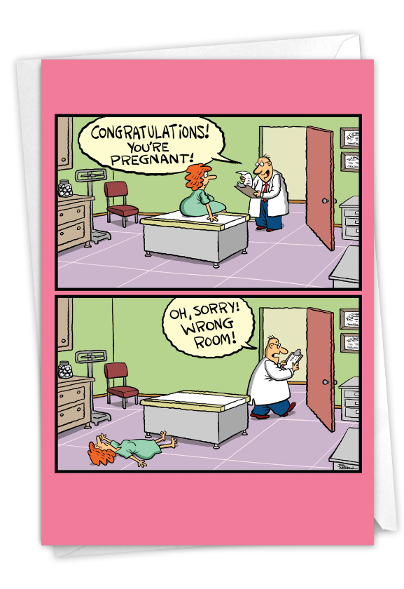 Hilarious Birthday Printed Card By Bill Whitehead From NobleWorksCards.com - Wrong Room