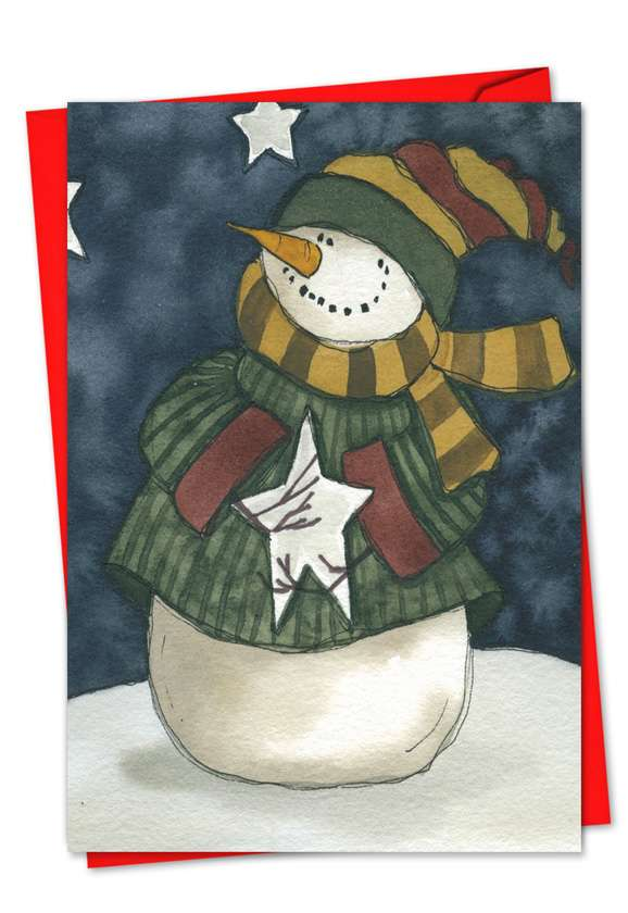 Frosty Friends: Creative Christmas Paper Card