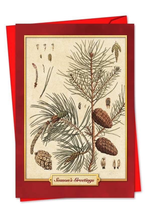 Pining For Christmas: Stylish Christmas Greeting Card