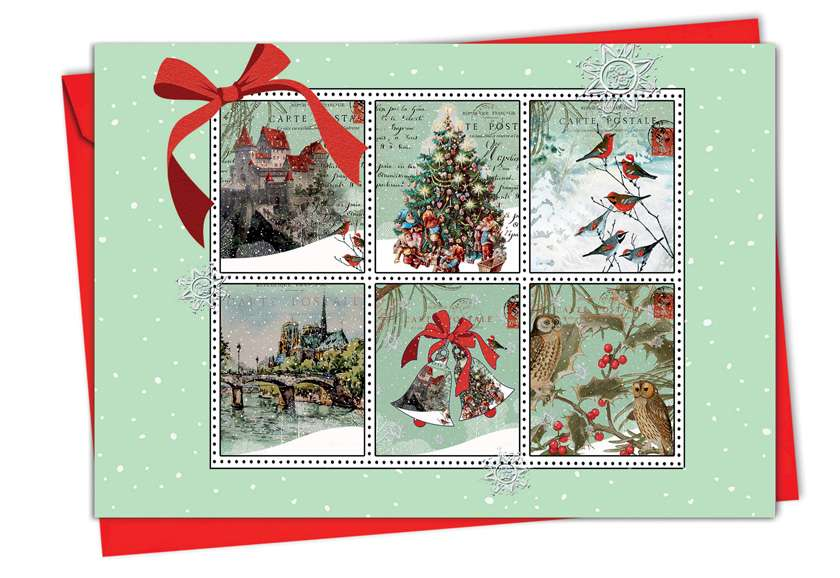 Merry Mail: Stylish Christmas Paper Card