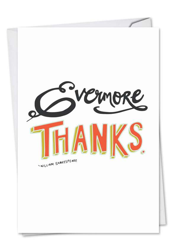 Words Of Appreciation: Stylish Thank You Paper Card