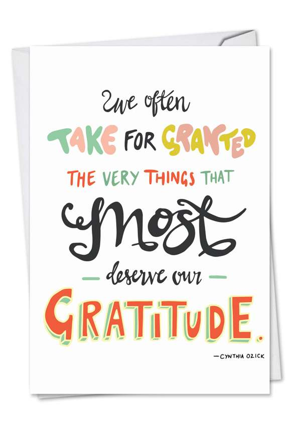 Words Of Appreciation: Creative Thank You Paper Greeting Card