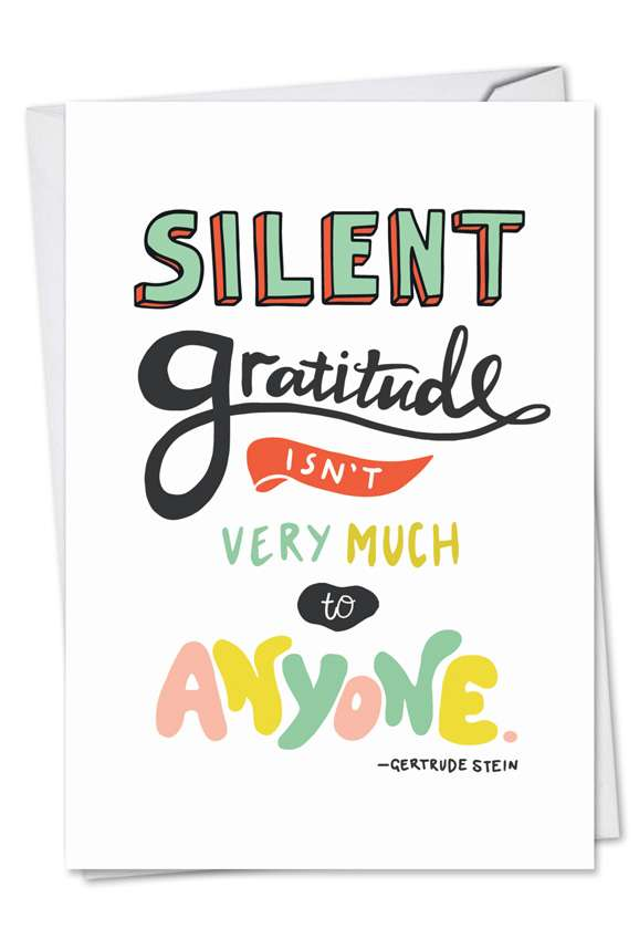 Words Of Appreciation: Stylish Thank You Printed Greeting Card