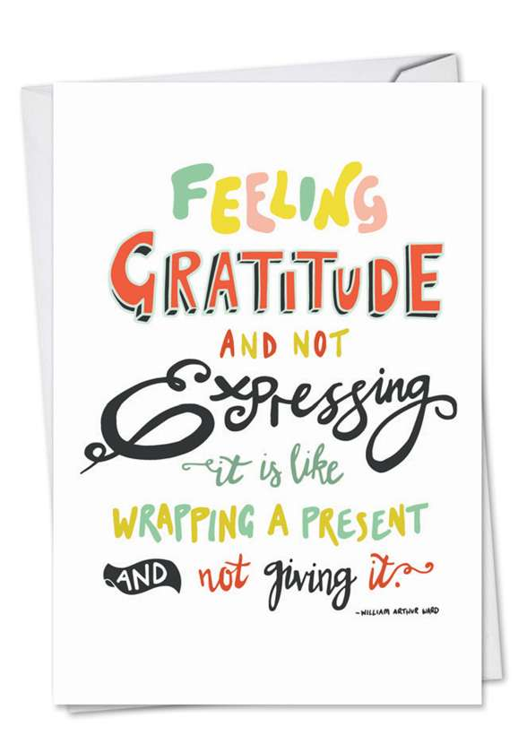 Words Of Appreciation: Creative Thank You Printed Card