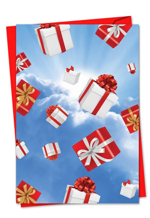 Flying Gifts: Creative Christmas Paper Card