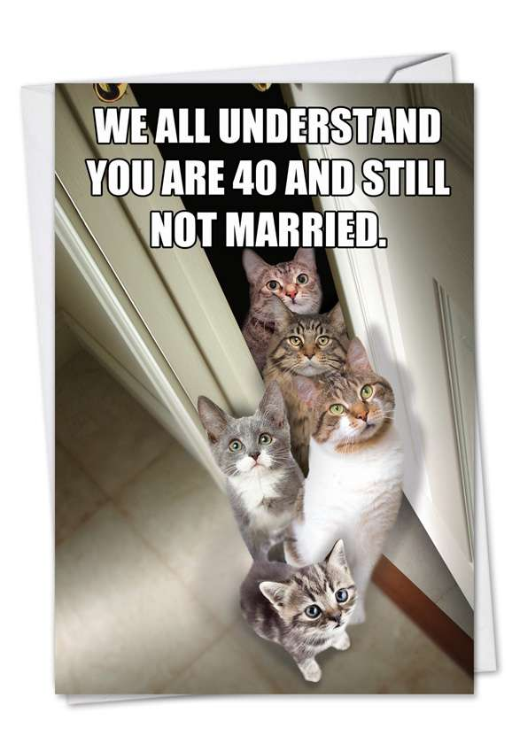 Cats for Singles: Hysterical Birthday Greeting Card