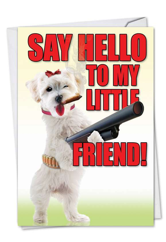 Little Friend: Funny Birthday Paper Greeting Card