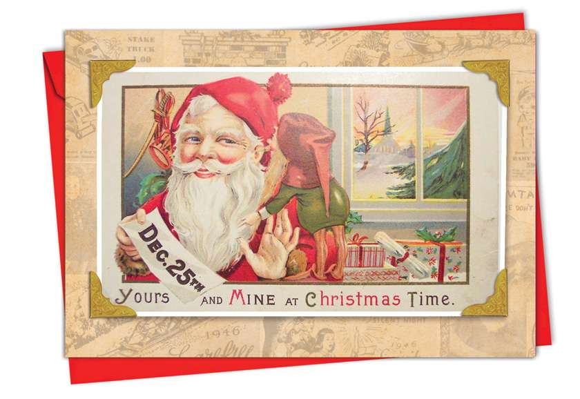 Christmastime Rhymes: Stylish Christmas Printed Greeting Card