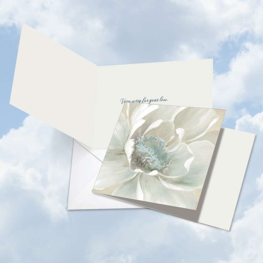 Peaceful Petals: Creative Sympathy Square-Top Paper Greeting Card