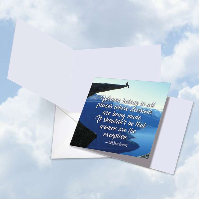 Women Power Quotes Ginsburg: Hilarious Blank Square-Top Printed Greeting Card
