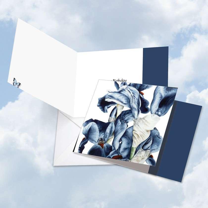 Iridescent Iris Square Card